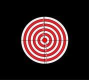Dartboard for darts game vector illustration eps10. On black background stock illustration