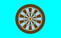 Dartboard for darts game vector illustration eps10. On blue background royalty free illustration