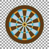 Dartboard for darts game vector illustration EPS10. On transparent plaid background royalty free illustration