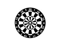 Dartboard for darts game vector illustration eps10. On white background stock illustration