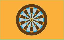 Dartboard for darts game vector illustration eps10. On yellow background vector illustration
