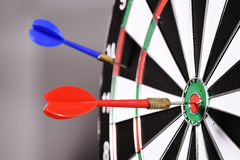 Dartboard with darts Stock Photography