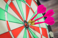 Dartboard  (Darts Hit Target) Royalty Free Stock Photography