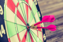 Dartboard  (Darts Hit Target) Stock Photo