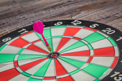 Dartboard(Darts Hit Target) Royalty Free Stock Photography