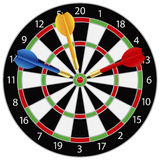Dartboard with Darts Illustration Royalty Free Stock Photo