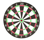 Dartboard with Darts isolated Royalty Free Stock Image