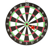 Dartboard with Darts isolated Royalty Free Stock Photo