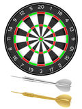 Dartboard and darts Royalty Free Stock Photos