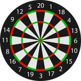 Dartboard del vector Imagen de archivo libre de regalías