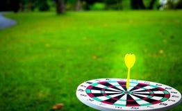Dartboard en geel Royalty-vrije Stock Afbeeldingen