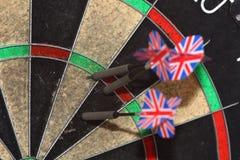 Dartboard en pijltjes Royalty-vrije Stock Afbeelding