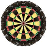 Dartboard geïsoleerdep vector Royalty-vrije Stock Fotografie