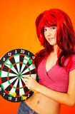 Dartboard Girl 2 Royalty Free Stock Photos