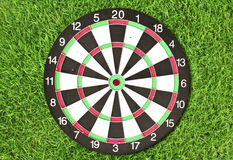 Dartboard on green grass Stock Photography