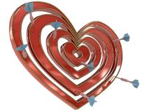 Dartboard heart with darts Stock Image