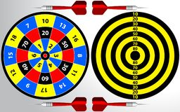 Dartboard for darts game. Dartboard illustration for darts game, sport practice training isolated on white background stock illustration