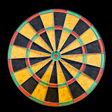 Dartboard isolated on black Royalty Free Stock Photography