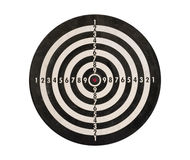 Dartboard isolated, clipping path. Stock Photography