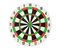 Dartboard isolated Royalty Free Stock Photos