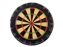 A dartboard isolated over a white background Royalty Free Stock Images