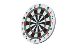 Dartboard isolated on white Stock Photos