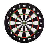 Dartboard. Isolated on a white background Royalty Free Stock Images
