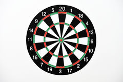 Dartboard isolated on white background Royalty Free Stock Images