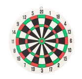 Dartboard isolated on white Royalty Free Stock Photos