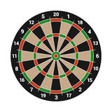 Dartboard Isolated on White Background. Vector Royalty Free Stock Photography