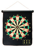 Dartboard. Isolated on white. Clipping path included Royalty Free Stock Photos