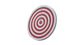 Dartboard isolated on white Royalty Free Stock Photography