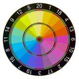 Dartboard koloru zbieracz Fotografia Stock