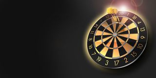 Dartboard with maximum score and three darts in triple twenty royalty free stock image