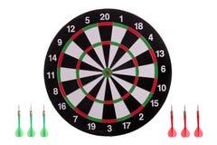 Dartboard met pijlen Royalty-vrije Stock Foto's