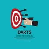 Dartboard met Pijltjes. stock illustratie