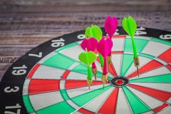 Dartboard (miss darts) Royalty Free Stock Images