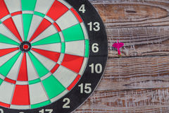 Dartboard  (miss darts) Stock Photos