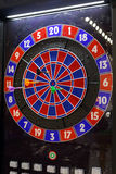 Dartboard. Modern Electronic Dartboard Game With Plastic Darts Royalty Free Stock Photography