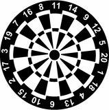 Dartboard with Numbers Royalty Free Stock Image