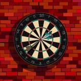 Dartboard op een muur Royalty-vrije Stock Foto