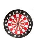 Dartboard op wit Royalty-vrije Stock Fotografie