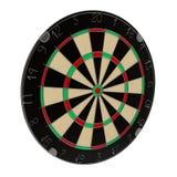 Dartboard op witte 3D Illustratie wordt geïsoleerd die Royalty-vrije Stock Foto
