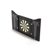 Dartboard op witte 3D Illustratie wordt geïsoleerd die Stock Afbeelding
