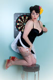 Dartboard pinup girl Stock Photos