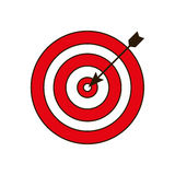 Dartboard related icon image. Illustration design Royalty Free Stock Image
