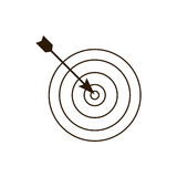 Dartboard related icon image. Illustration design Royalty Free Stock Photos