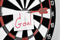 Dartboard for set goal concept.  Stock Photography
