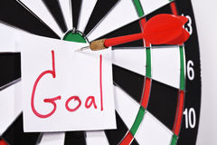 Dartboard for set goal concept Royalty Free Stock Photos
