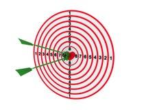 dartboard strzałki ilustracji